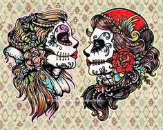 Day of the Dead Tattoo Flash Art