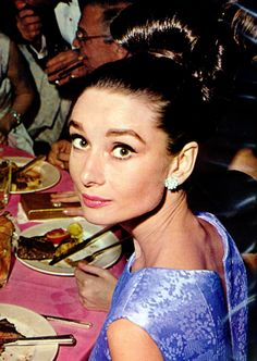 """October 28, 1964, Audrey Hepburn at the premiere of """"My Fair Lady"""" in Hollywood…"""