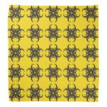 NEW Yellow and Black Tribal Fractal Pattern Kerchief - http://www.photographybypixie.com/2014/09/30/new-yellow-and-black-tribal-fractal-pattern-kerchief/ #hippie #photo #gifts #shopping