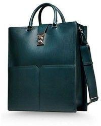 Jill Sander green leather bag - Google Search