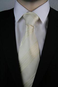 JD 6 Krawatte Cremeweiß 150cm