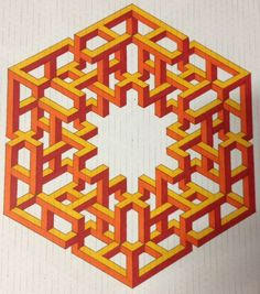 Inanimate Existence Star Cube by Bucwah # impossible # isometric # geometry✖️✖️FOSTERGINGER AT PINTEREST ✖️