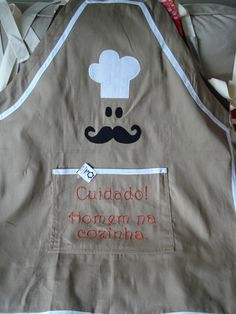 Personalized Aprons, Fashion Sketches, Sewing Projects, Patches, Hand Painted, Blazer, Couture, Fabric, Cotton
