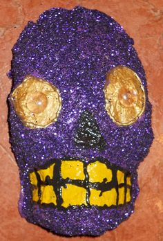 Purple Glittery Dia de los Muertos/Day of the by AnthonySaldivar, $39.99