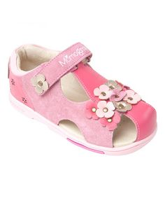 53634303a Fuchsia Pansies Leather Sandal by MOMO Grow  zulilyfinds