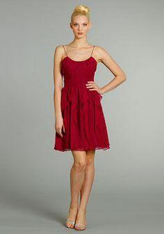Spaghetti Straps A line Short Length Natural Waist Chiffon Sleeveless Bridesmaid Dress - Angeldress.co.uk