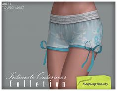 Imaginarium of Green: Intimate Outerwear Collection - Sleeping Beauty Shorts