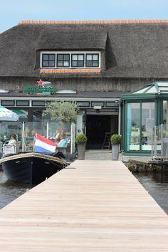 steiger / quay bij restaurant Het Theehuis Grou