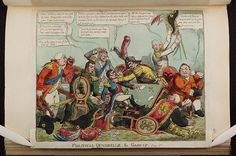 Date [1808-08].Bodleian Libraries, Political quadrille the game up Plate 2nd.Caricature of Napoleon I. (British political cartoon)