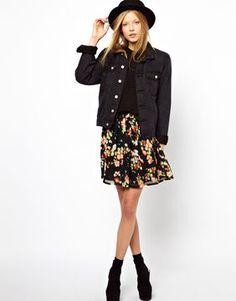 Monki Floral Print Skirt on shopstyle.com