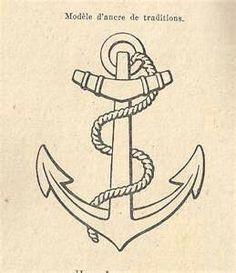 Ancre marine tattoo tatouages tatouage tatouage ancre marine et tattoo ancre - Dessin ancre bateau ...