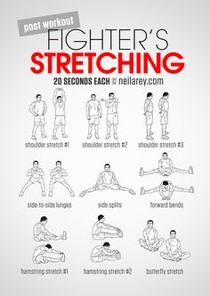 Fighter's Stretching workout. Rutina de estiramiento para después de entrenar …
