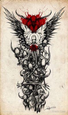 half sleeve tattoo designs and meanings Dark Art Drawings, Tattoo Design Drawings, Tattoo Sketches, Tattoo Designs, Bild Tattoos, Body Art Tattoos, New Tattoos, Tattoos For Guys, Tattoos Pics