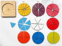 Fractions Wooden educative game for learning basic math principles Learn Basic Math, Thing 1, Learning Games, Fractions, Montessori, Crafts For Kids, Preschool, Kids Rugs, Preschools