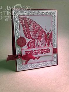 Stampin' Up! Swallowtail card - Stamps, Paper, Scissors