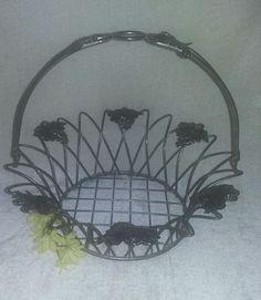 Silverplate Basket Swivel Handle Grapes Vine ORNATE kitchen Decor table  | Collectibles, Metalware, Silverplate | eBay!