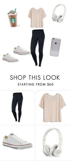 """""""casual"""" by rachelmwebb-1 ❤ liked on Polyvore featuring NIKE, Fine Collection and Converse"""