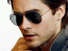 Jared Leto... i like aviator glasses.