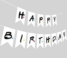 Friends TV Show Happy Birthday Party Banner, Friends Theme Party Banner Ideal for Friends Fan Birthday Party Decorations Supplies Happy Birthday Parties, Happy Birthday Banners, Birthday Party Decorations, Birthday Posts, Friend Birthday, Birthday Ideas, Birthday Post Instagram, Party Flags, Friends Tv Show