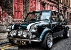 the classic Mini Cooper Mini Cooper S, Mini Cooper Classic, Cooper Car, Classic Mini, Classic Cars, Rover Mini Cooper, Retro Cars, Vintage Cars, Antique Cars
