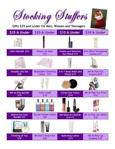 Stocking Stuffers! http://www.marykay.com/lisabarber68 Call or text 386-303-2400