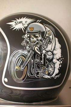 This domain may be for sale! Pinstriping, Motorcycle Helmet Design, Cafe Racer Helmet, Motorcycle Camping, Harley Davidson Iron 883, Pinstripe Art, Vintage Helmet, Posca Art, Helmet Paint