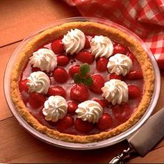 Fresh Strawberry Almond Pie - A cookie crust and almond flavor add a ...