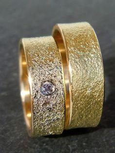 Trauringe *STARDUST* Gold-Platin von MARLUNA - Individuelle Trauringe und Schmuck auf DaWanda.com