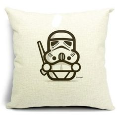 Dececos Star Wars Series 18 x 18 Inch 100% Cotton Linen Blend Decorative Cushion Cover Throw Pillow Cover Pillowcase