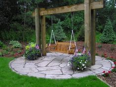 Pretty idea for outdoor swing by GarJo12881
