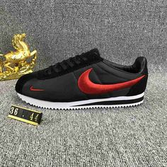 Different Types Of Sneakers Every Man Needs.  Wise men say that spending on things that keep you from the ground such as your bed, mattress, tires, and shoes, is worth the investment. Zapatillas Nike Cortez, Nike Cortez Shoes, Red Nike Shoes, Zapatillas Casual, Running Shoes Nike, Sneakers Mode, Sneakers Fashion, Shoes Sneakers, Nike Kicks