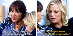 When Ann was trying to be supportive but Leslie called her out. 18 Times Leslie Knope And Ann Perkin's Friendship Made Your Heart Smile Parks And Rec Quotes, Parks And Recs, Photo Recreation, Parks And Recreation, Leslie Knope Quotes, Anne Perkins, Nbc 4, Leslie Ann, Verse