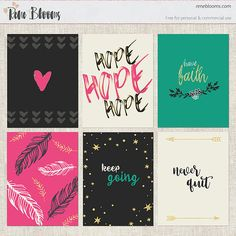 Free Boho Project Life Filler Cards Kit