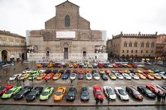 Piazza Maggiore @ #Bologna Gran Giro 2013 #Lamborghini #Lambo50