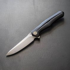The We Knife Co. 702 uses a single piece integral titanium handle for enhanced strength and handling. #UrbanEDCSupply