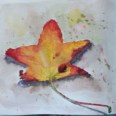 And a small red yellow one ! Can you guess where they are in my tree sampling from this morning ?  This has been a productive and enjoyable morning of watercolor work.  #watercolor #watercolorpainting #aquarelle #aquarela #winsorandnewton #winsorandnewtonwatercolors #watercolour #watercolorsketching #autumncolors #leaves #automne #feuillesdautomne #moleskine #moleskineart