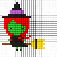 Witch Halloween Perler Bead Pattern