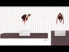 Jump Vault Athletic Male: Grid Overlay - Animation Reference - YouTube