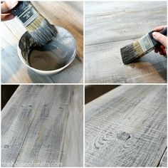 How to make new lumber look like weathered barnwood...need to know this for my dining room table I want to make!