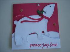 simple to make polar bear shape cards using cricut joys of. Black Bedroom Furniture Sets. Home Design Ideas