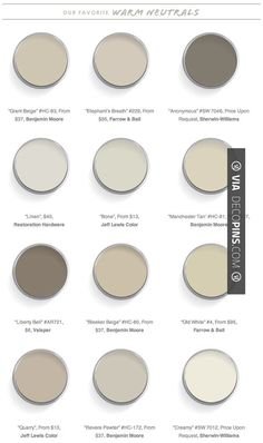 Neato - Paint Color Palettes Domaine Home 12 Best Warm Neutral Paint Colors #greige   Check out more ideas for Paint Color Palettes at DECOPINS.COM   #paintcolorpalettes #paint #color #colorpalettes #palettes #bedrooms #bathroom #bathrooms #homedecor #beds #interiordesign #home #homedecoration #design