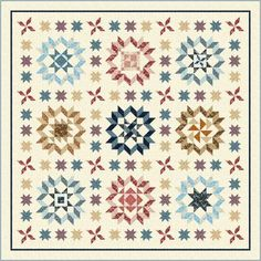 Lots of stars in this quilt, upcoming Quilting Treasures Block of the Month quilt program: Plain & Fancy.