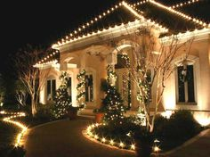 exterior xmas light ideas | ... Light Ideas : Awesome Residential Outdoor Christmas Decorations Lights