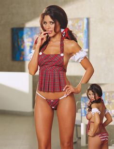 6d6773eb99 2017 New England style sexy lingerie hot Red plaid maid uniform night erotic  lingerie suit sex