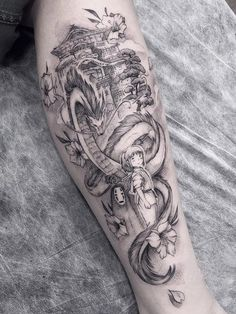 Juan Pedro Sen > Once you've met someone you never really forget them. It just takes a while for your memories to return (Spirited Away) Dope Tattoos, Body Art Tattoos, Tattoos For Guys, Tattoo Ink, Arabic Tattoos, Miyazaki Tattoo, Dragon Sleeve Tattoos, Sleeve Tattoos For Women, Studio Ghibli Tattoo
