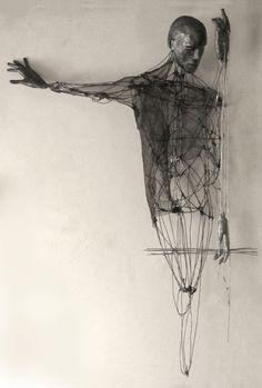 'Memories of the thirst by Italian artist Giorgio Cecchinato Mixed media sculpture, x x in. via Saatchi Human Sculpture, Art Sculpture, Sculptures, Straw Sculpture, Mixed Media Sculpture, 3d Zeichenstift, Art Blanc, Creation Art, Wow Art