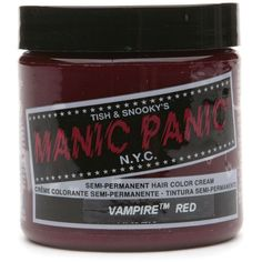 Buy Manic Panic Semi-Permanent Hair Color Cream, Vamp Red & More |... ($12) ❤ liked on Polyvore