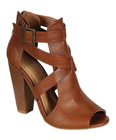 Loving this Bamboo Chestnut Cutout Mash Pump on #zulily! #zulilyfinds