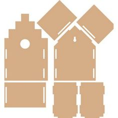 Cardboard Playhouse, Cardboard Crafts, Paper Crafts, Cardboard Furniture, Bird Houses Diy, Play Houses, Laser Cutter Projects, Bird House Kits, Glitter Houses