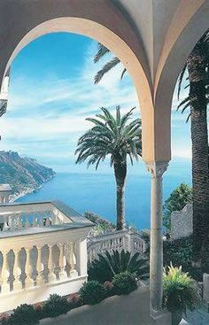 Italy Travel Inspiration - Ravello, Italy, province of Salerno Campania Amalfi Coast. Places Around The World, Oh The Places You'll Go, Places To Travel, Places To Visit, Around The Worlds, Travel Destinations, Positano, Dream Vacations, Vacation Spots